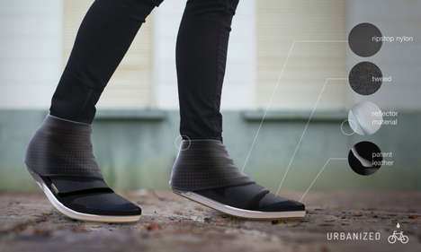Stylish Rainproof Footwear - Urbanized Cycling Shoe by Jillian Tackaberry Keeps Feet Dry