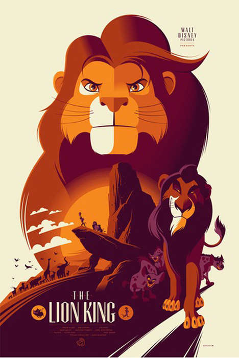 Re-Imagined Disney Posters - These Mondo Posters Revamped Disney Icons