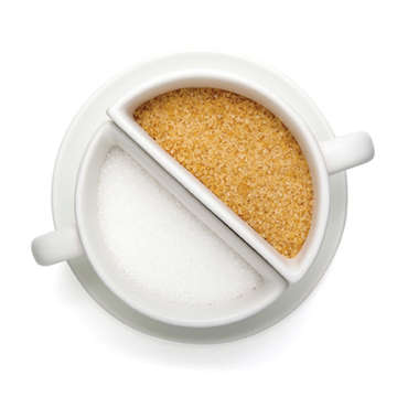 Split-Mug Sugar Bowls - The Coffee Break Sugar Bowl Divides Sweetners for a Delightful Drink