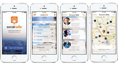 Real-Time Social Apps - The SocialRadar App Uses Social Media to Tell You About Those Around You