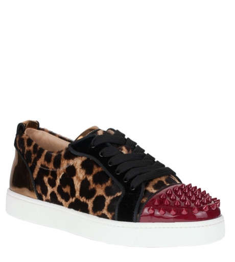 Safari Print Couture Sneakers - These Christian Louboutin Sneakers Mix Spikes and Fun Prints