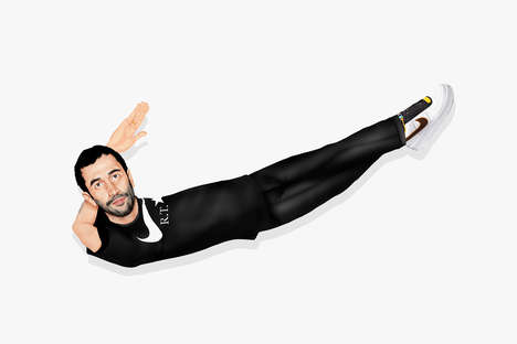 Humanized Athletic Branding - This Famous Logo Came to Life as the Riccardo Tisci Nike Swoosh