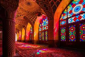 The Nasir Al-Molk Mosque is Illuminated with Color Every Morning