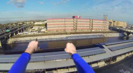 Superhero Flying POV Videos - With the Help of a GoPro Camera Superman Takes us Flying with Him