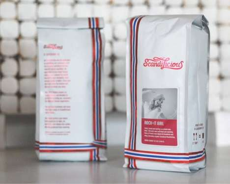 Gift Wrapped Packaging - Scandilicious by Paone Creative Uses Ribbon Colors of the Scandinavian Flag