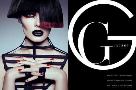 Glam Gothic Editorials - Gintare by Danny Cardoza for Fashion Gone Rogue Boasts Asymmetrical Hair