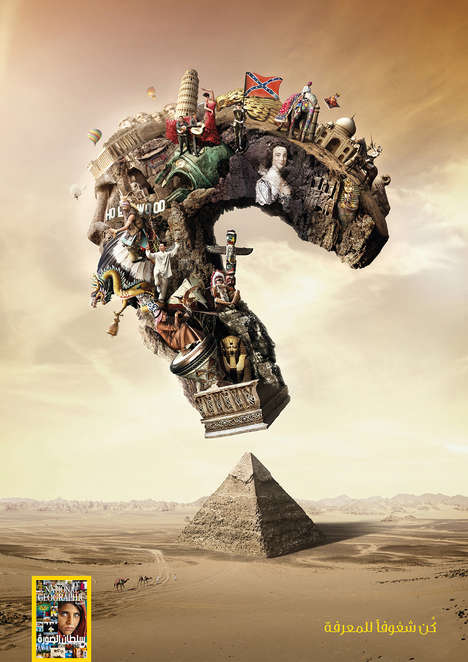 Surreal Question Mark Ads - The National Geographic United Arab Emirates Campaign is Fantastical