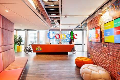 Garage-Inspired Offices - The Google Amsterdam Interior is based on Where Google was Founded