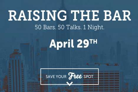 Educational Drinking Bars - Raising the Bar Turns the Local Watering Hole into a Learning Experience