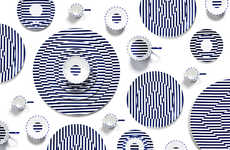 Op Art Dishware Collections - The Richard Brendon and Patternity Plate Range Boasts Vivid Graphics