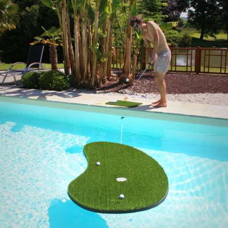 Floating Golf Greens - This Swimming Golf Package Includes a Buoyont Green, Balls & a Wedge Club