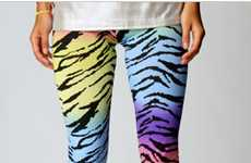 11 Wildlife-Inspired Leggings - From Polychromatic Safari Tights to Shimmering Serpent Stockings