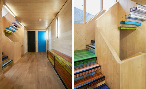 Artsy Wooden Homes - Richard Woods' Colorful Home Interior Expresses His Passions