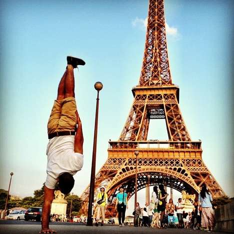 Breakdance-Infused Travel Photos - Kapstand Does One-Armed Handstands at Paris Landmarks