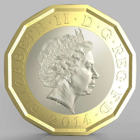 12-Sided Coins - The UK Royal Mint Revealed Its New 12-Sided £1 Coin
