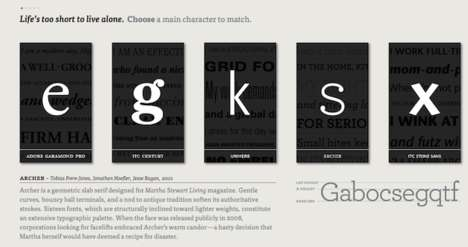 Educational Typographic Dating Websites -
