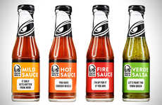 Big Brand Taco Sauces - Taco Bell's Hot Sauces are Now Available in Bottles