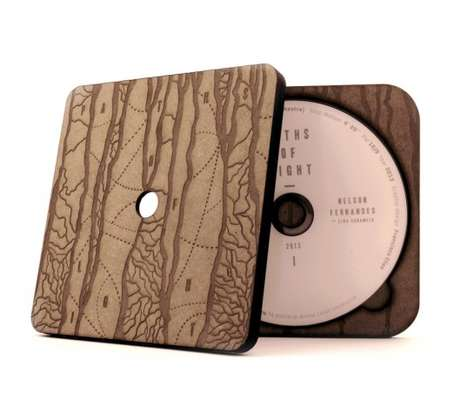 Laser-Cut Packaging - Paths of Light Has a Natural Wood Aesthetic