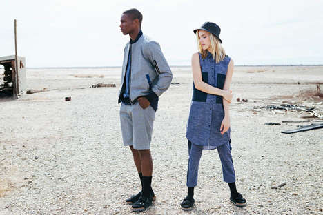 Contemporary Seashore Lookbooks - The Shades of Grey by Micah Cohen SS14 Catalog is Serene