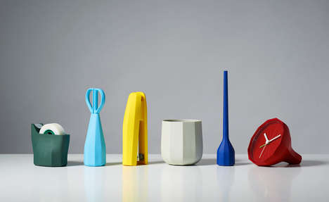 Geometric Office Accessories - These Designer Desk Supplies Boast an Origami-Inspired Look