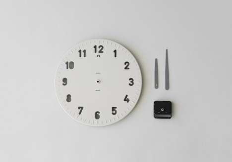 Biodegradable Wall Clocks - Yenwen Tseng Modelled This Eco Clock After a Template Ruler