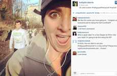 Comical Fitness Selfies - Instagram User Kelly Roberts Took a Series of Funny Selfies While Running