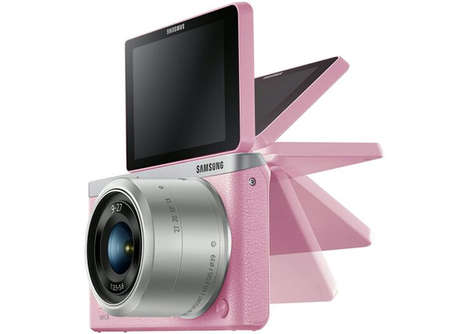 Selfie-Assisting Cameras - The Samsung NX Mini Camera is Perfect for Self Snaps