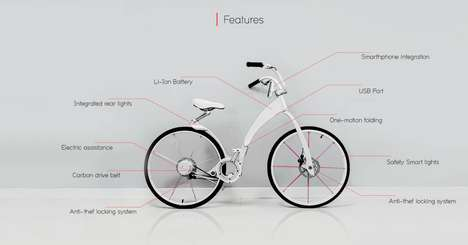 Folding Electric Smart-Bikes - The Gi Electric Bike Can Fold Up and Charge Your Phone