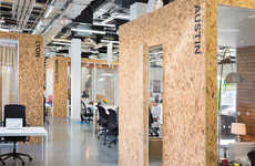 Industrially Exposed Workspaces - The Airbnb Dublin Office by Heneghan Peng Contains Wood Panelling
