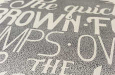 Gradient Stippled Typography
