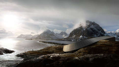 Looping Mountain View Hotels - Images of the Lofoten Opera Hotel by Snøhetta Have Been Unveiled