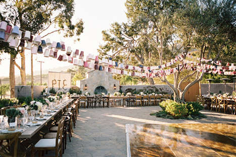 Baguette Cart Wedding Receptions - A Beautiful French Wedding Has Been Brought Closer to Home