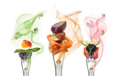 Molecular Gastronomy Cutlery - The Aromafork by Molecule-R Adds 21 Flavors To Every Bite