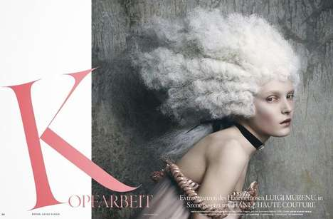 Marie Antoinette-Inspired Editorials - The Vogue Germany April 2014 Photoshoot is Full of Decadence
