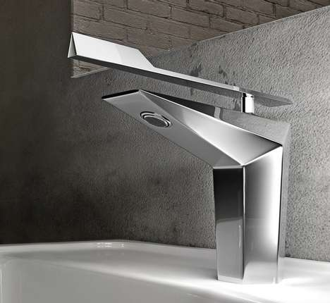Futuristic Geometric Faucets - The Fly Faucet by Gattoni Looks Like a Stealth Aircraft