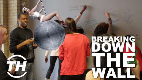 Meaningful Open Office Renovations - Trend Hunter Came in Like a Wrecking Ball, Destroying the Wall