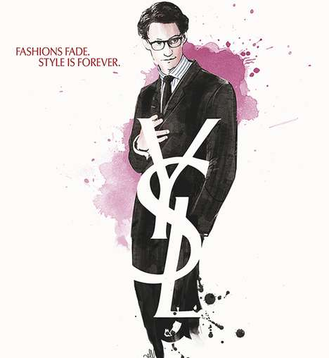 Fashion Designer Film Posters - The Yves Saint Laurent Movie Poster Has Now Launched