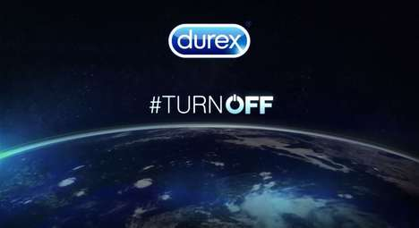 Romantic Earth Hour Campaigns - Durex Wants You to Ditch Your Electronic Devices for Your Lover