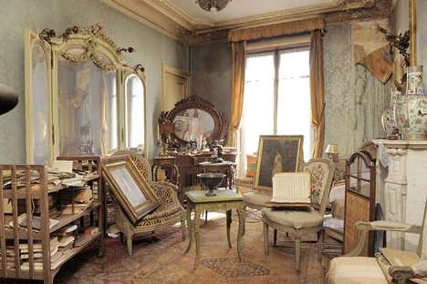 Archaic French Apartments - Madame de Florian's Antique Parisian Apartment is a Design Time Capsule