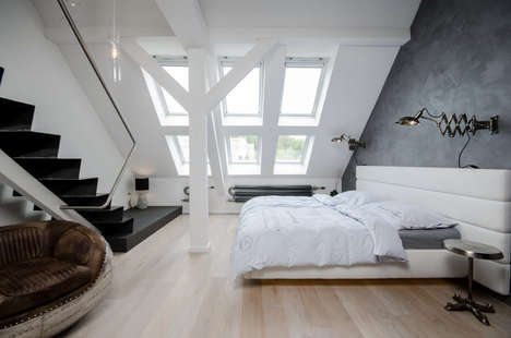 Overhauled Attic Apartments - This Apartment in Prague was Originally an Attic