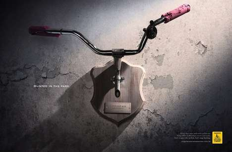 Taxidermy-Inspired Cycling Ads -