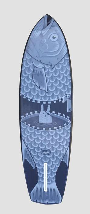 Hand-Painted Cartoon Surfboards - This Jeremy Fish Surfboard is Mixing Surfing with Modern Art