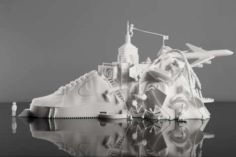 The NIKE Air Force 1 Sculpture Embodies Influences of the Brand