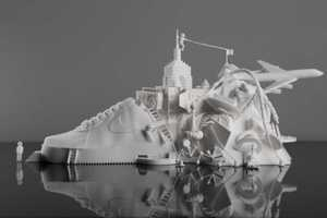 This NIKE Air Force 1 Sculpture is a 3D Printing Masterpiece