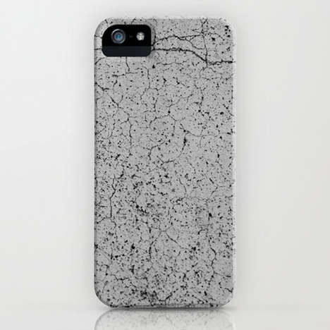 Cracked Concrete Phone Cases - A Concrete iPhone 5 Case Offers a Stone-Look and Stable Protection