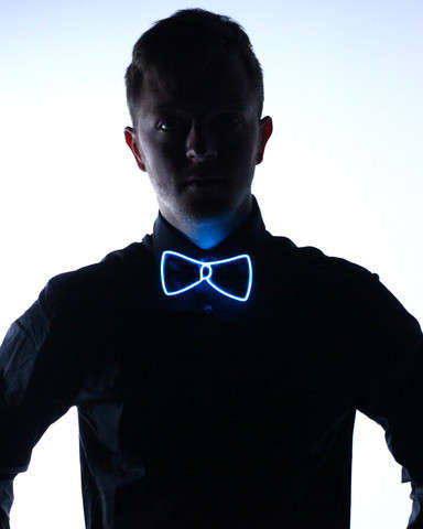 Electric Neon Bow Ties - The Light-Up Bow Tie by Electric Styles Makes Your Outfit Pop in The Dark