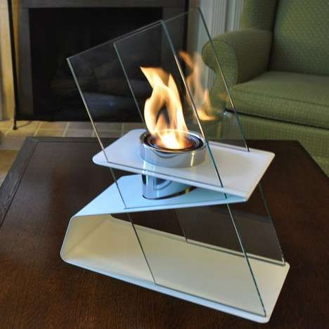 Elegant Outdoor Fire Pots - The Kaskade Indoor Outdoor Fire Pot Illuminates Any Room