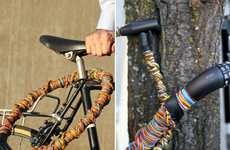Colorful Twine Bike Locks