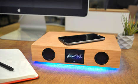 Versatile Smartphone Bases - The Glowdeck Combines a Ton of Phone Accessories Into One Product