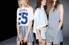 Femininely Sporty Fashion - The Zara TRF Spring 2014 Lookbook Mixes and Matches for Casual Chic
